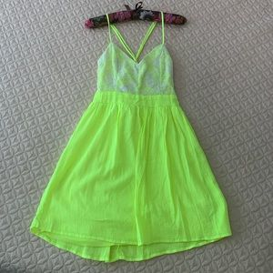 Neon city triangles dress
